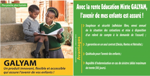 Rente Education Mixte GALYAM